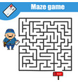 maze game postman and post box kids activity vector image vector image