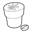 Medical marijuana bottle and tablet icon vector image vector image