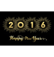 New Year 2016 gold banner firework greeting card vector image vector image