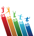 number jumping vector image vector image