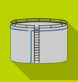 oil storage tankoil single icon in flat style vector image vector image