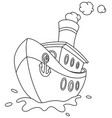 outlined ship vector image
