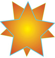 Over-Lapped Stars vector image vector image