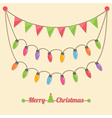 party christmas light bulbs vector image