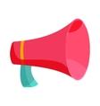 Pink loudspeaker icon cartoon style vector image vector image