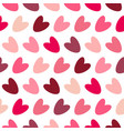 pink seamless valentine pattern with colorful vector image