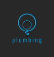Plumbing mockup water logo creek flow from the