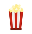 Popcorn icon flat style vector image vector image