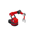 productional robot machine with magnet on the end vector image vector image