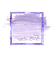 purple watercolor grunge frame vector image vector image
