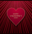 red heart on fabric texture background vector image