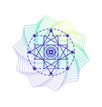 sacred geometry alchemy symbol isolated on white vector image vector image