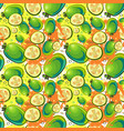 seamless pattern guava fruits exotic ornament vector image vector image