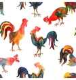 seamless pattern with fire cock on white vector image vector image