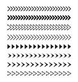 set black arrows icon stock vector image vector image
