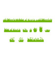 set isolated green grass design flat vector image