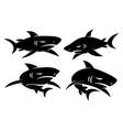 shark logo character design set modern vector image