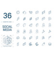 social media and network isometric line icons 3d vector image vector image