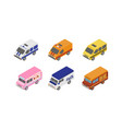 street food trucks and special service vans city vector image vector image