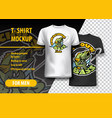 t-shirt mockup with voracious bass phrase in two vector image vector image