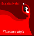 traditional spanish flamenco woman in red dress vector image vector image