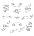 Vintage ribbon banners hand drawn set for design vector image vector image