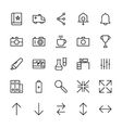 Web and User Interface Outline Icons 2 vector image vector image