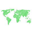 worldwide map pattern of floral sprout items vector image