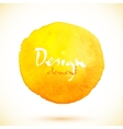 Yellow watercolor circle design element vector image vector image
