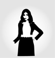 Fashion model in designer outfit vector image