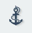 anchor nautical symbol vector image