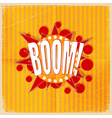 Cartoon Boom on an old-fashioned yellow background vector image