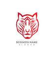 tiger logo template vector image