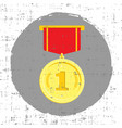 gold medal with grunge effect vector image