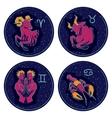 Zodiac Signs Aries Taurus Gemini Cancer vector image