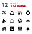 12 ring icons vector image vector image