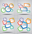 4 Colorful Web Menu Templates vector image