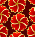 Abstract seamless texture with red gold flower vector image vector image