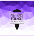 abstract violet triangle pattern vector image vector image
