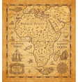 antique map africa on old parchment
