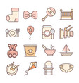 bafeeding toys and clothes welcome newborn vector image vector image