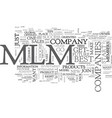 best mlm companies tips for your success text vector image vector image
