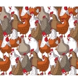 Birds chicken big group color seamless pattern vector image vector image