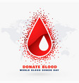 blood drop donor day concept design vector image vector image