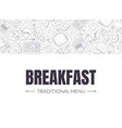 breakfast banner landing page template morning vector image vector image