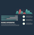 business infographic background graphic and data vector image