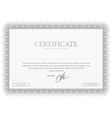 Certificate Grey pattern that is used in currency vector image vector image