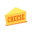 cheddar cheese piece isolated on vector image vector image
