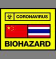 china and thailand novel coronavirus 2019-ncov vector image vector image