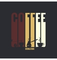 coffee label design background vector image